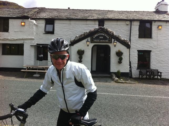 Kirkstone Inn cycling panniers Kikstone Pass Struggle